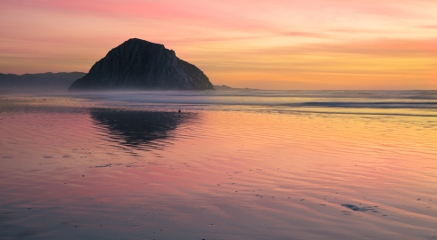 Morro Rock sunset