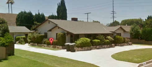Mother's house, courtesy of Google Maps