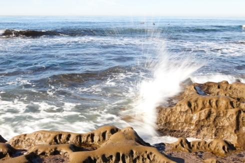 Crashing wave at Hospitals Beach