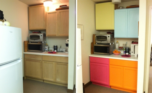 Before and after. I went a little crazy with the color but I like it.