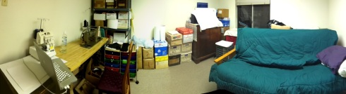 This is the sewing room, which looks a little chaotic but it really isn't.