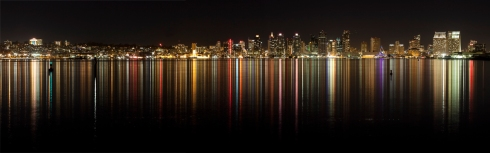 San Diego reflections from marina