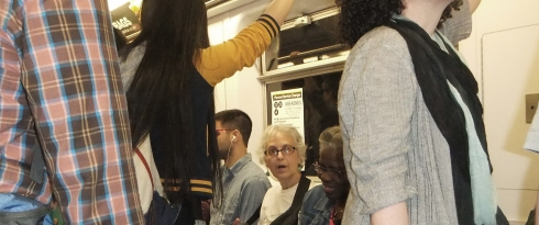 Maia on the subway