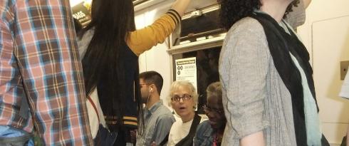 Maia on the subway